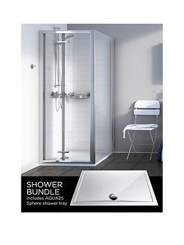 aqualux-source-bi-fold-door-side-panel-aq25-sphere-shower-tray-900-x-900mm