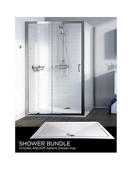 aqualux-source-sliding-door-side-panel-aq25-sphere-shower-tray-1200-x-800mm