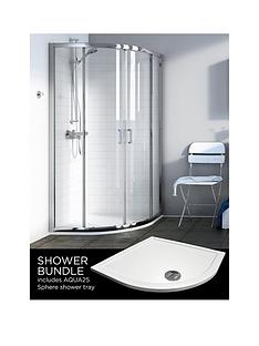 aqualux-source-quadrant-and-aq25-shower-tray-pack-900-x-900mm