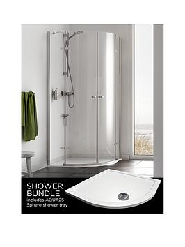 aqualux-origin-quadrant-and-aq25-shower-tray-pack-900-x-900mm