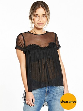 v-by-very-petite-sweetheart-tulle-top-black