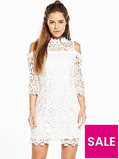 v-by-very-petite-cold-shoulder-lace-dress