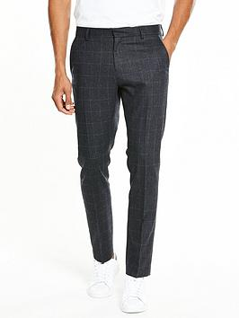 selected-homme-mylodent-blue-check-suit-trouser