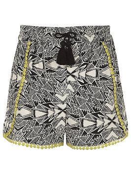 river-island-girls-black-aztec-print-crochet-trim-shorts