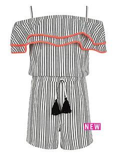 river-island-girls-white-stripe-pom-pom-trim-playsuit