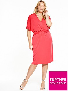 v-by-very-curve-batwing-midi-dress-coral