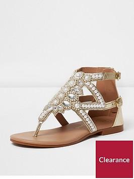 river-island-river-island-girls-pearl-studded-embelished-sandal