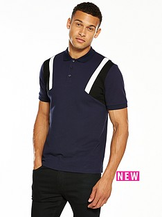 v-by-very-colour-block-sleeve-polo