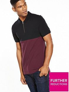 v-by-very-zip-collar-dropped-hem-polo