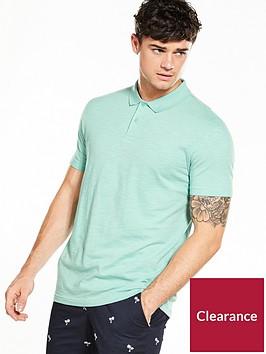 v-by-very-short-sleeve-slub-polo