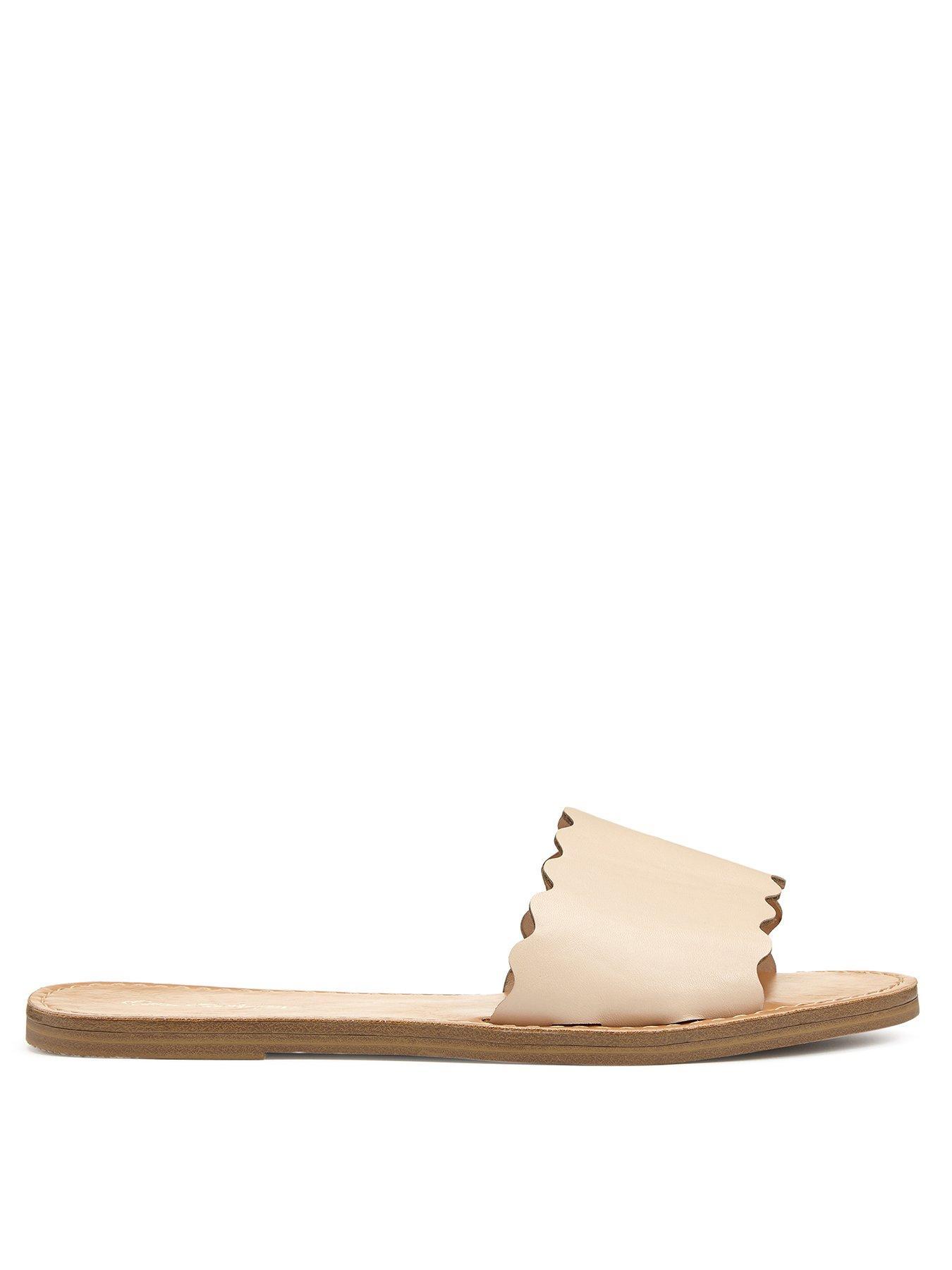 Miss Selfridge Scallop Slide Flat Sandal