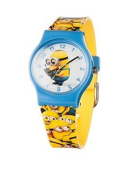 minions-minons-print-strap-childrens-watch