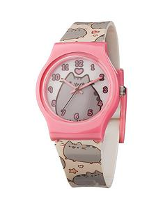 pusheen-print-strap-watch