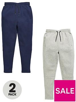v-by-very-boys-panel-jogging-bottoms-greynavy-2-pack