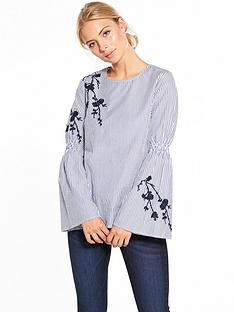 v-by-very-embroidered-stripe-top