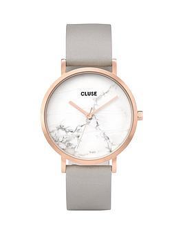 cluse-cluse-la-roche-white-dial-grey-strap-ladies-watch