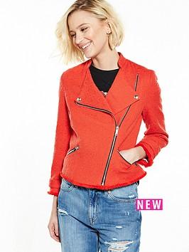 river-island-red-boucle-biker-jacket