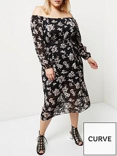 ri-plus-black-burnout-midi-dress
