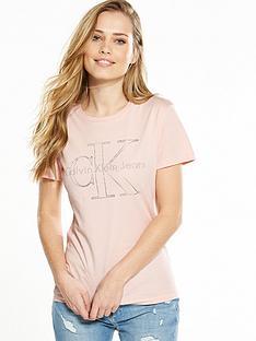 calvin-klein-jeans-tanya-18-true-icon-t-shirt-peachy-keen