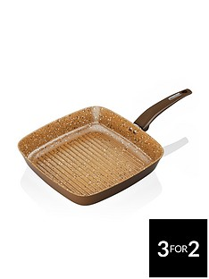 tower-cerastone-25-cm-forged-grill-pan