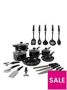 morphy-richards-equip-20-piece-cookware-set-black