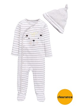 mini-v-by-very-baby-unisex-baby-bear-hat-and-sleepsuit-set-2-piece