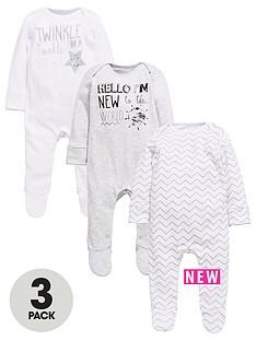 mini-v-by-very-baby-unisex-3pk-slogan-sleepsuits