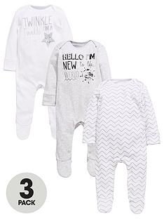 mini-v-by-very-baby-unisex-slogan-sleepsuits-3-pack