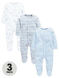 mini-v-by-very-baby-boys-3-pack-star-amp-stripe-sleepsuit
