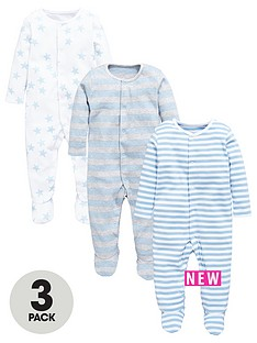 mini-v-by-very-baby-boys-3pk-essential-sleepsuits