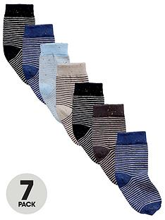 mini-v-by-very-boys-neppy-striped-socks-7-pack