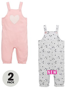 mini-v-by-very-baby-girls-2pk-heart-amp-flower-dungarees