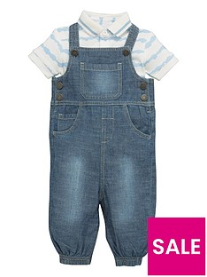 mini-v-by-very-baby-boys-dungaree-and-bodysuit-set