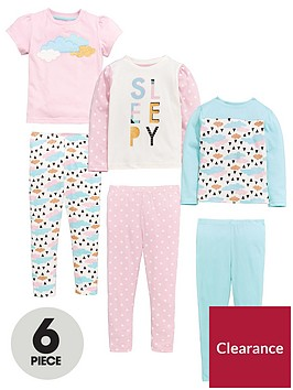mini-v-by-very-girls-6-piece-sleepy-cloudnbsppyjamas