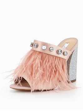 Miss Kg Fifi Feather Mule