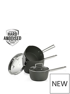 tower-pro-hard-anodised-3-piece-saucepan-set