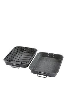 tower-non-stick-marble-roast-and-rack--2-piece-set