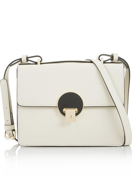 2bba80bd255 VIVIENNE WESTWOOD Opio Saffiano Small Shoulder Bag-beige | very.co.uk