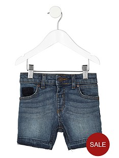 river-island-mini-blue-authentic-denim-shorts