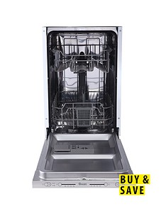 Swan SDWB7030W 9-Place Slimline Integrated Dishwasher - White