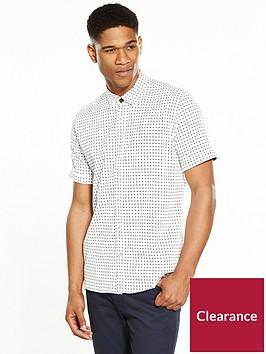 ted-baker-mens-textured-geometric-short-sleeve-shirt