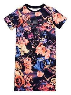adidas-originals-adidas-originals-older-girls-rose-print-tee-dress
