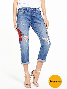 levis-501-cropped-tapered-distressed-ripped-jean