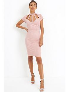 girls-on-film-caged-suedette-dress-blush