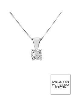 starlight-9ct-gold-14ctnbsplook-5-point-diamond-illusion-set-pendant-and-chain