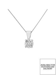 starlight-9ct-gold-12ct-look-10-point-diamond-illusion-set-pendant-and-chain