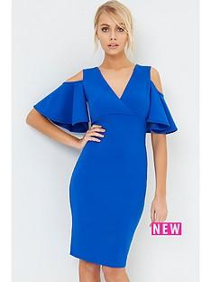 girls-on-film-ruffle-sleeve-dress-cobalt