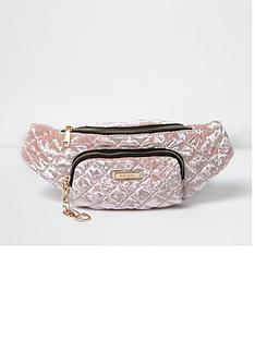river-island-quilted-velvet-bumbag