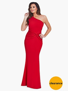 jessica-wright-one-shoulder-maxi-dress-red