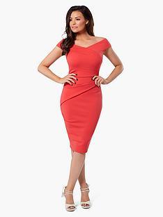 jessica-wright-verity-wrap-dress-coral